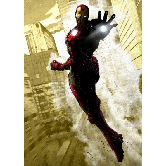 Iron Man Dark Metal Poster