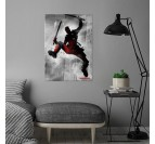 Poster Metal Black Deadpool
