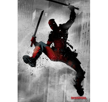 Poster Metal Black Deadpool