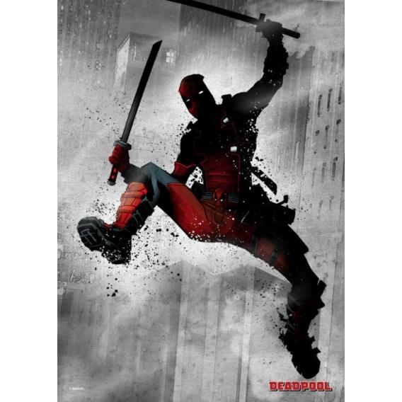 Black Deadpool Metal Poster