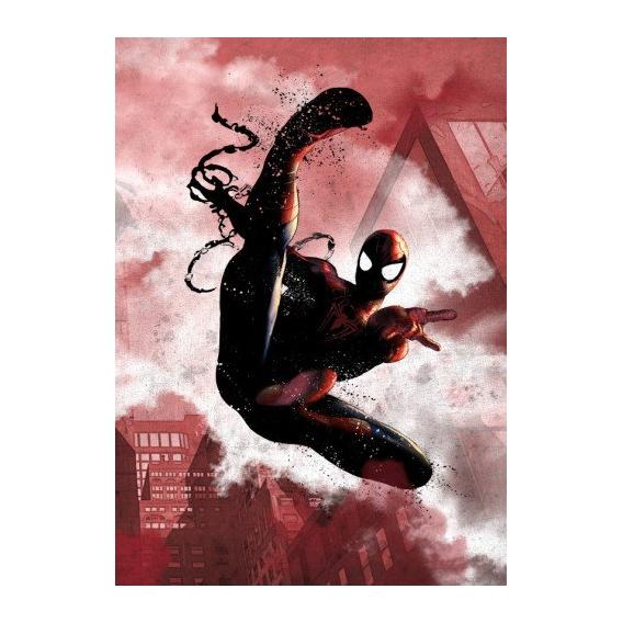 Black Spiderman Metal Poster