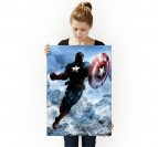 Poster Métal Dark Captain America