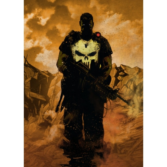 Black Punisher Metal Poster
