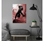 Poster Metal Black Panther