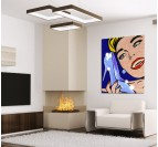 Lichtenstein Pop Art Tableau Design