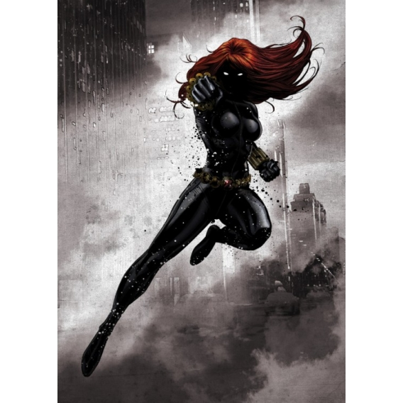 Black Widow Metal Poster