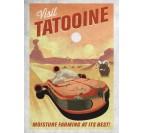 Poster Metal Tatooine Vintage