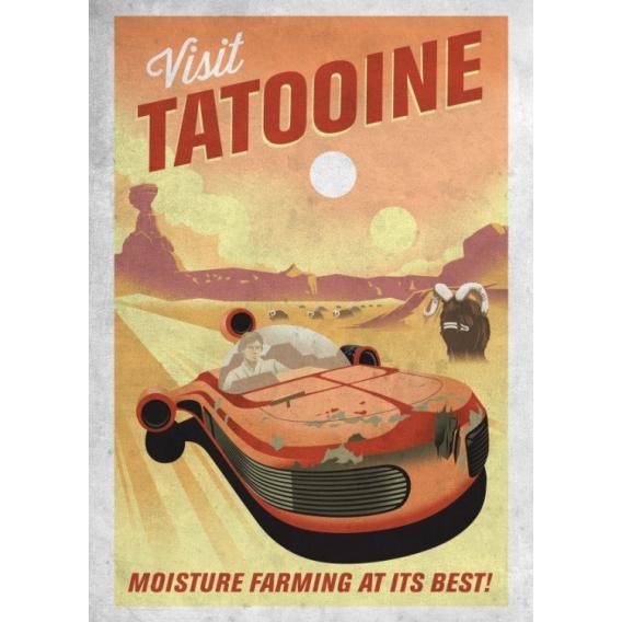 Vintage Metal Poster Tatooine