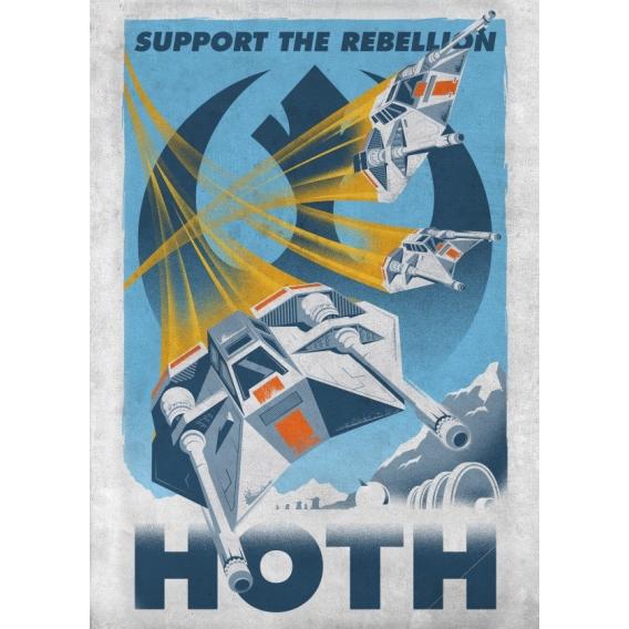 Affiche Métal Star Wars hoth
