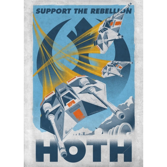 HothStar Wars Retro Poster
