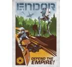 Poster Métal Rétro Star Wars