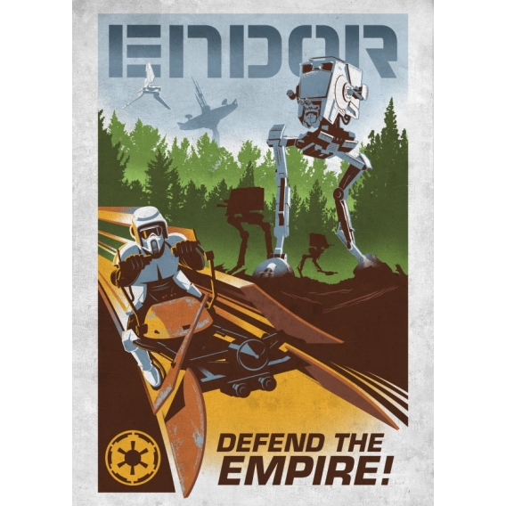Endor Retro Poster Star Wars