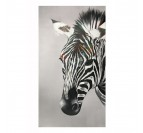 Multicoloured Zebra Oil Painting Canvas
