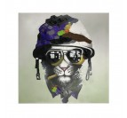 War Cat Contemporary Canvas