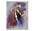 Toile peinture éclat du cheval