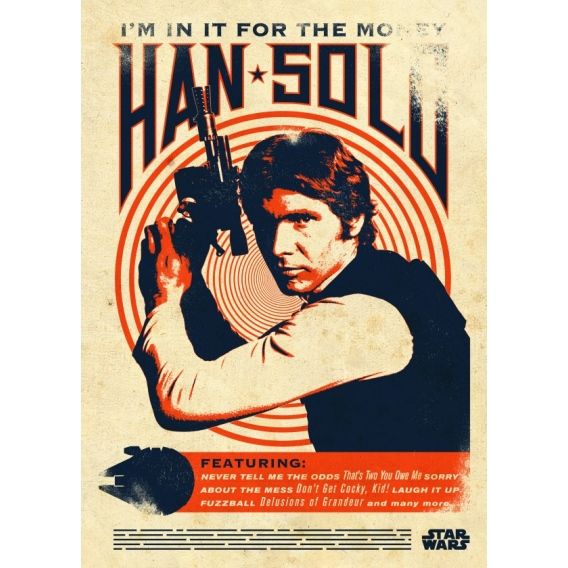 Han Solo Retro Poster