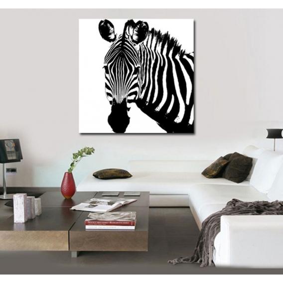 tableau contemporain zebra. Black Bedroom Furniture Sets. Home Design Ideas
