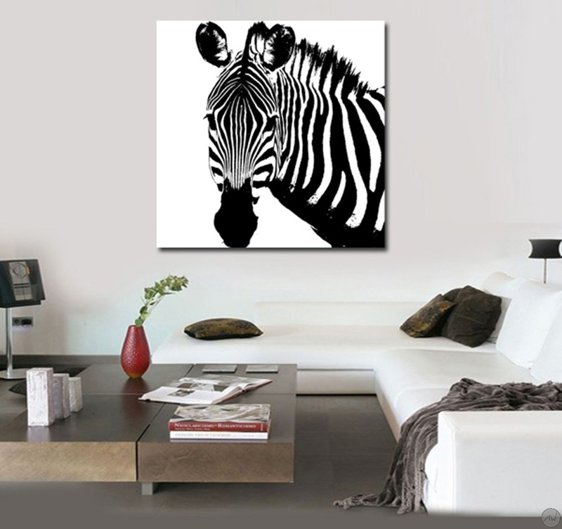 tableau contemporain zebra. Black Bedroom Furniture Sets. Home Design Ideas