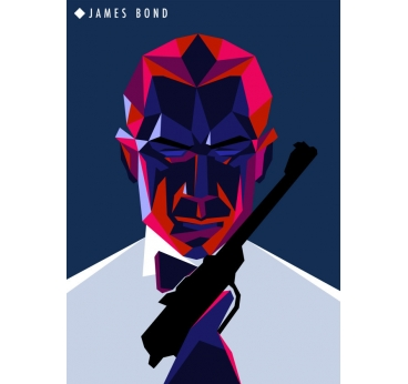 Poster Métal James Bond