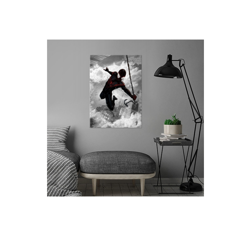 affiche murale black spiderman artwall and co. Black Bedroom Furniture Sets. Home Design Ideas