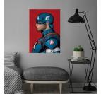 Affiche Murale Captain America Bleu