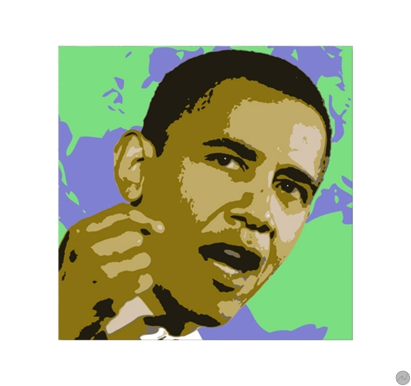 tableau pop art barack obama. Black Bedroom Furniture Sets. Home Design Ideas