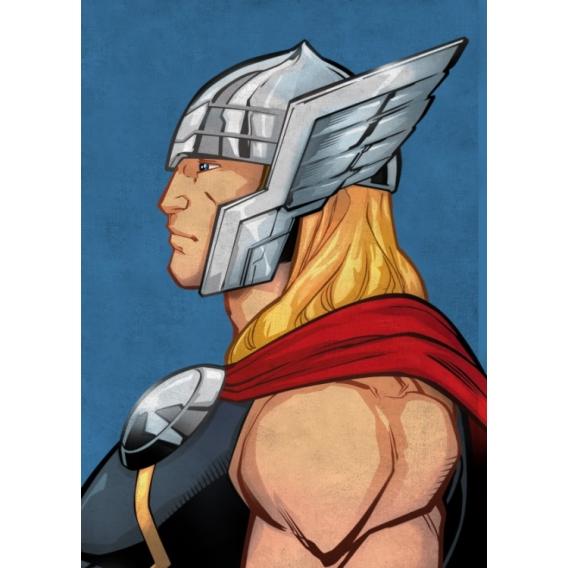Poster Métal Thor Profil