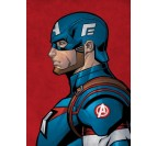 Blue Captain America Wall Poster