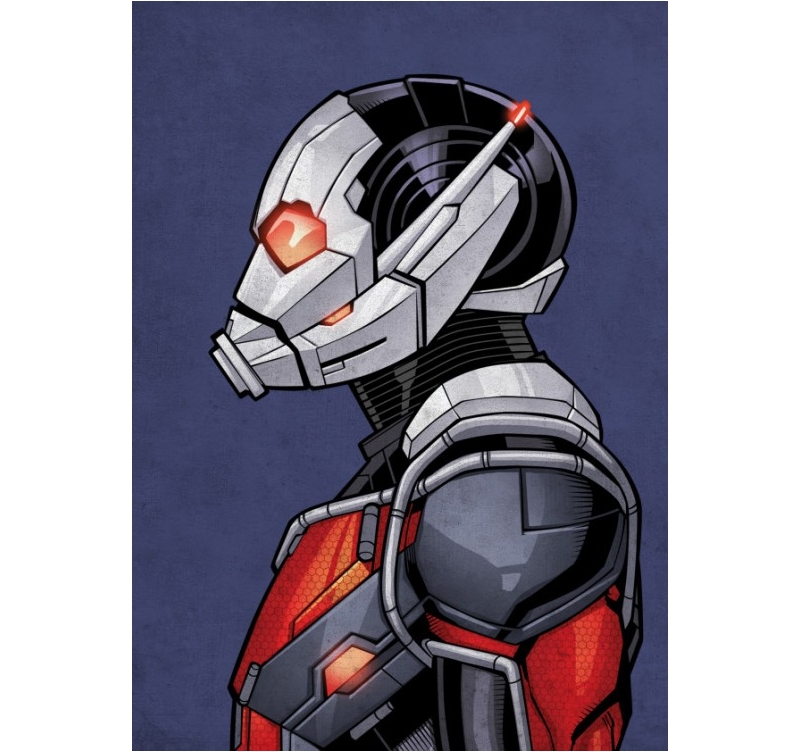 Poster Marvel Ant-Man Dessin - ArtWall and Co