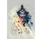 Geometric Batman Wall Poster