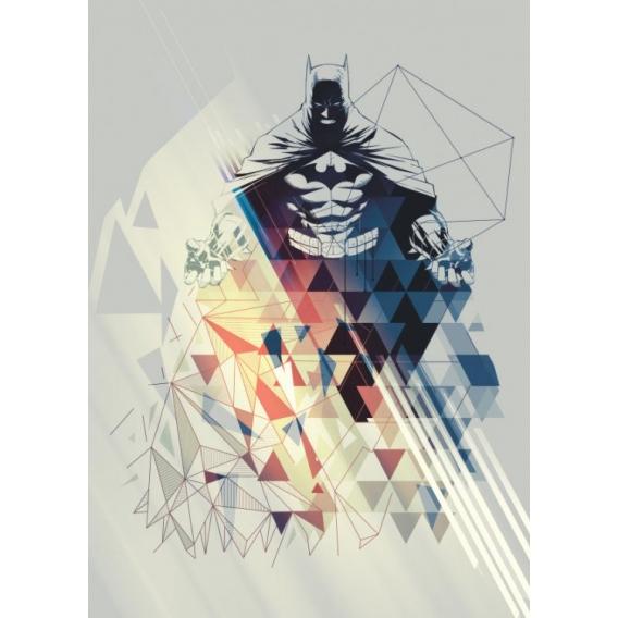 Geometric Batman Wall Poster