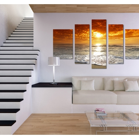 Sunset Sea Modern Art Frame
