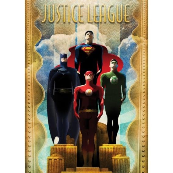 Justice League Retro Poster
