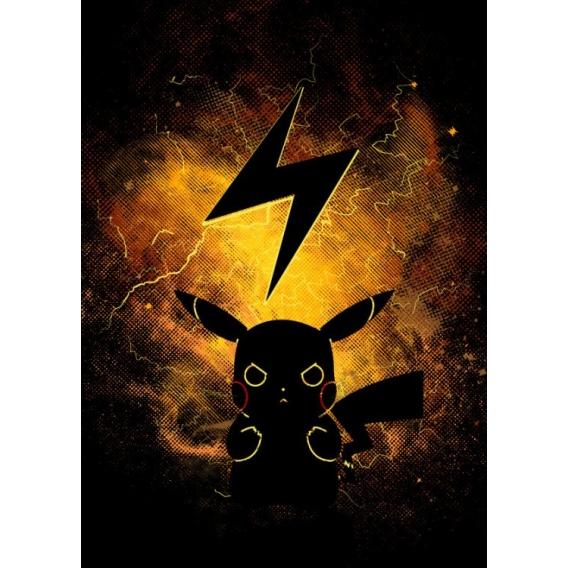 Manga Lightning Metal Poster