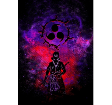 Poster Sasuke Métal