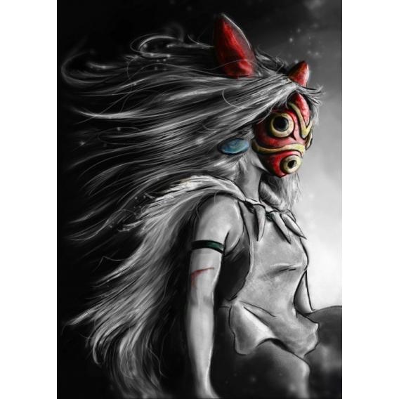 Poster Métal Manga Princesse
