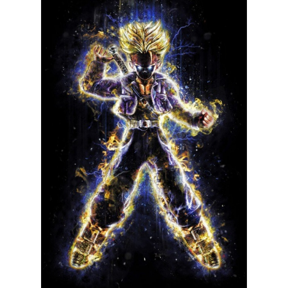 Saiyan God Metallic Poster