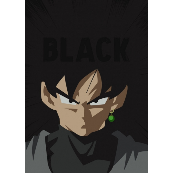 Black Goku Metallic Poster