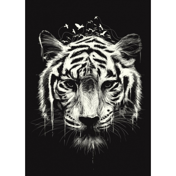 Nature Tiger Metal Poster