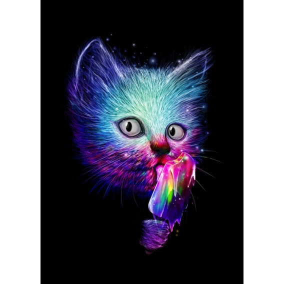 Pop Art Cat Metal Poster