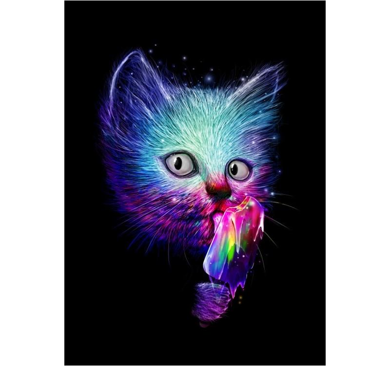 Pop Art Cat Metal Poster Artwall And Co