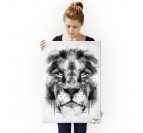 Poster Métal Lion Nature