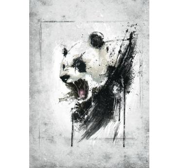 Poster Metal Colere du Panda