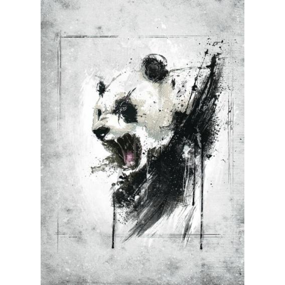 Poster Metal Colère du Panda