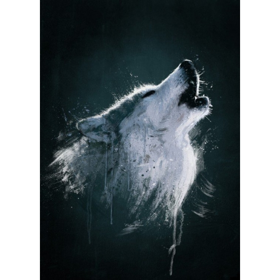 Poster Metal Animal Loup