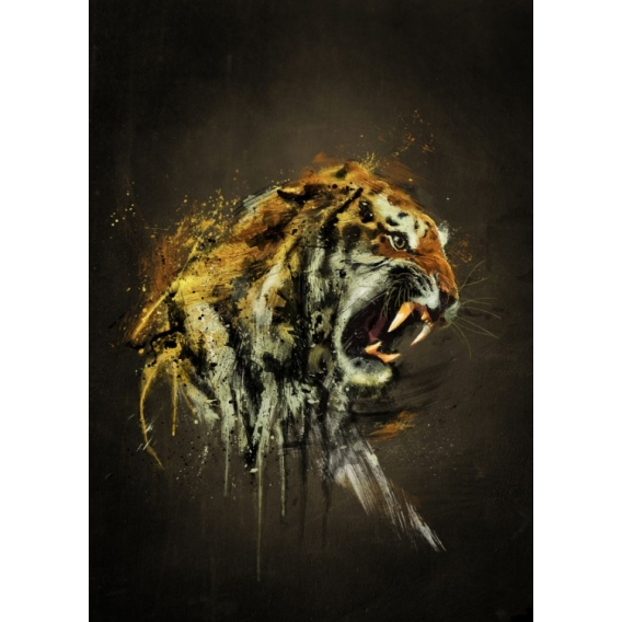Ferocious Tiger Design Poster
