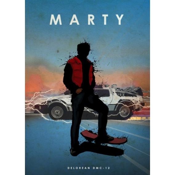 Original Marty DeLorean Poster