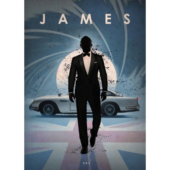Bond DB5 Metal Poster