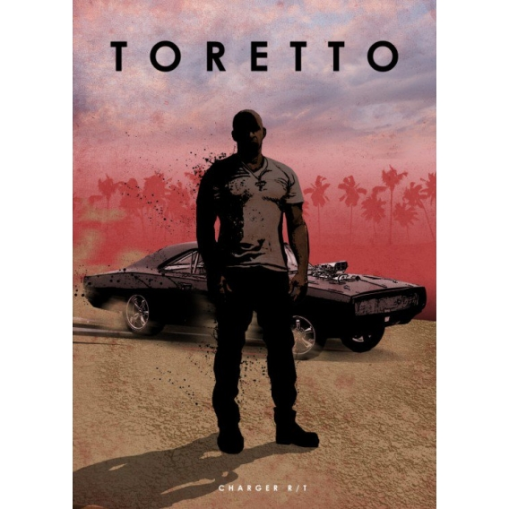 Toretto Charger Collector Poster