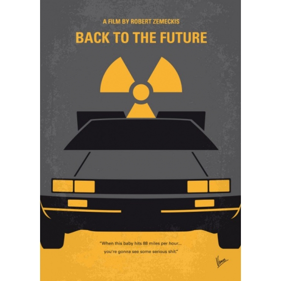 Delorean Metallic Wall Poster
